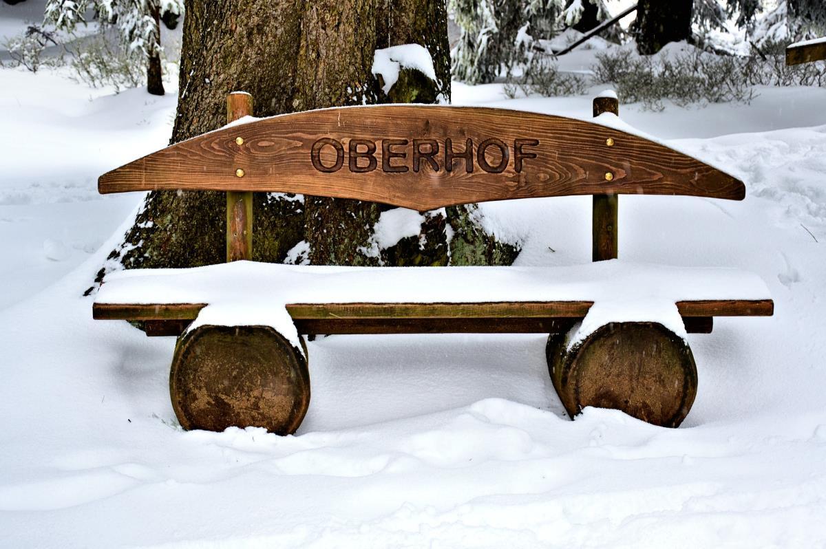 Bank im Winterkleid Oberhof